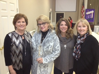From left: Leesa, Edie, Katrina, and Colleen at the Farmers Bank Holiday Party