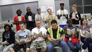 ANconnect- Atlanta Distribution Center employees reading The Last Christmas Ride by Edie Hand with Jeffery Addison.